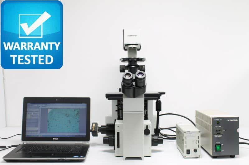 Olympus IX50 Inverted Fluorescence Phase Contrast Microscope