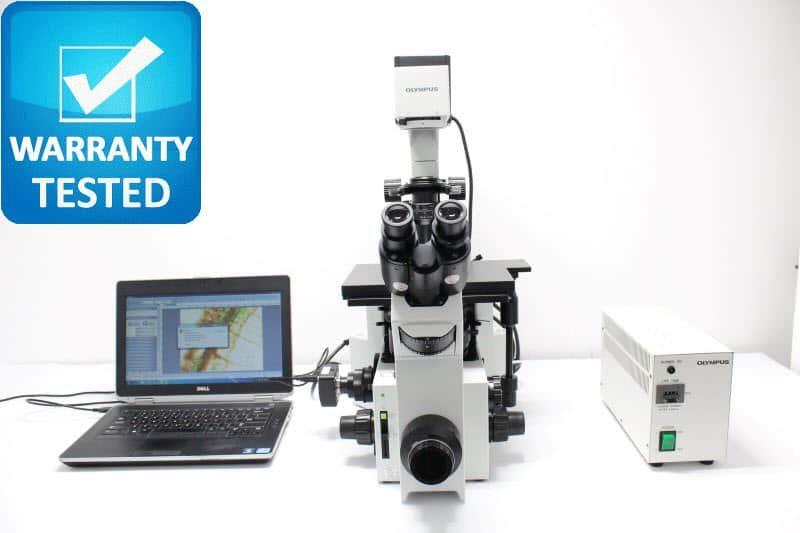 Olympus IX70 Inverted Fluorescence Phase Contrast Microscope Unit5