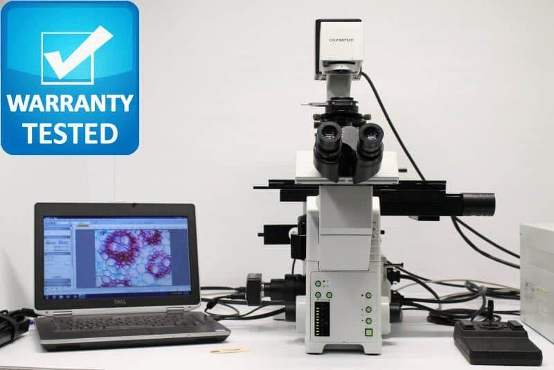 Olympus IX81 Inverted Fluorescence Motorized DIC Phase Contrast Unit 4