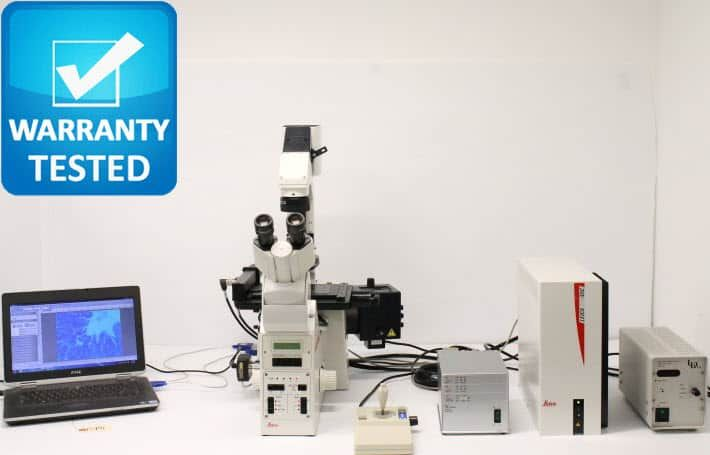 Leica DM IRE 2 Inverted Fluorescence Motorized Phase Contrast Microscope