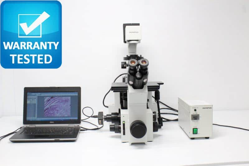 Olympus IX70 Inverted Fluorescence Phase Contrast Microscope Unit7