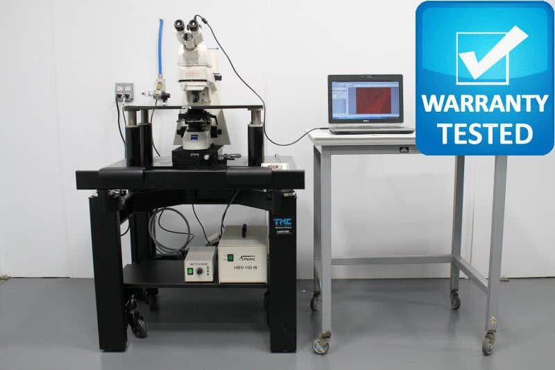 Zeiss Axioskop 2 FS Fluorescence Phase Contrast Microscope w/ TMC Antivibration