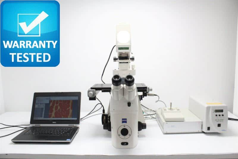 Zeiss Axiovert 200M Fluorescence Motorized Phase Contrast Microscope unit 4