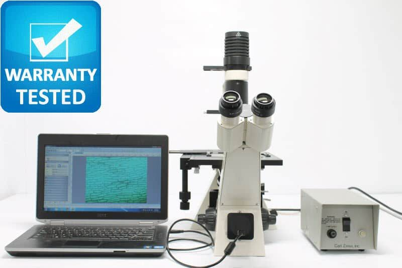Zeiss Axiovert 40 CFL Inverted Fluorescence Phase Contrast Microscope