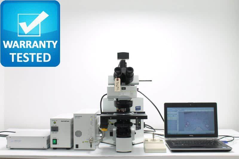 Olympus BX61 Fluorescence Motorized Phase Contrast Microscope