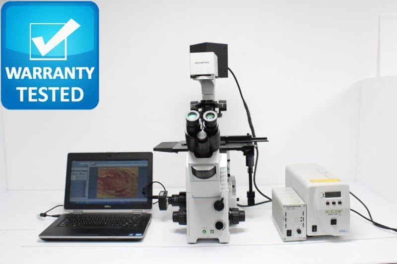 Olympus IX71 Inverted Fluorescence Phase Contrast Microscope Unit2