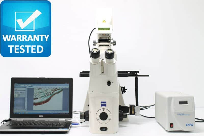 Zeiss Axiovert 200M Fluorescence Motorized Phase Contrast Inverted Microscope
