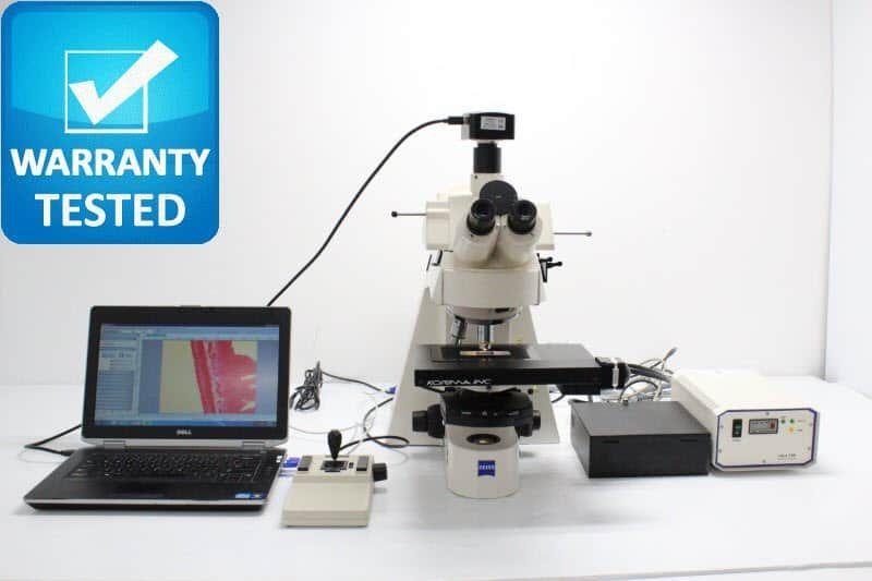 Zeiss Axioplan 2ie Mot Fluorescence Motorized Phase Contrast Microscope