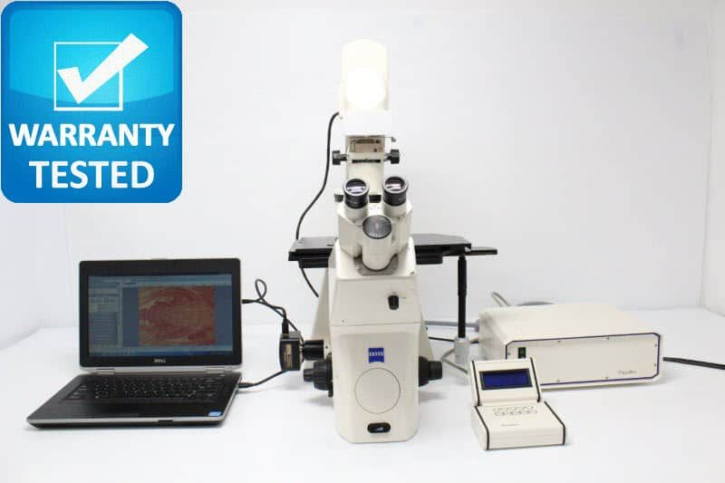 Zeiss Axiovert 200 Fluorescence Phase Contrast Inverted Microscope