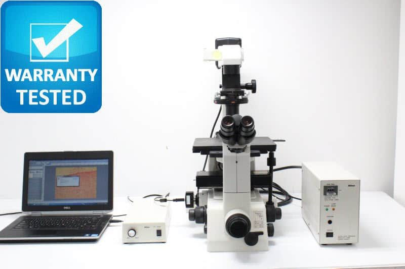 Nikon TE300 Inverted Fluorescence Phase Contrast Microscope Unit3