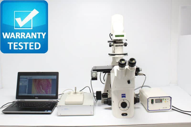 Zeiss Axiovert 200M Fluorescence PH Motorized DIC Polarization Microscope