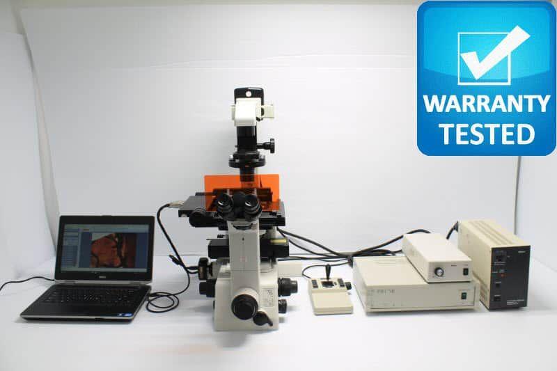 Nikon TE300 Fluorescence Motorized Phase Contrast Microscope unit 3