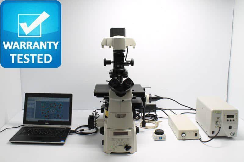 Nikon Ti-E Fluorescence Motorized DIC Polarization Phase Contrast Microscope