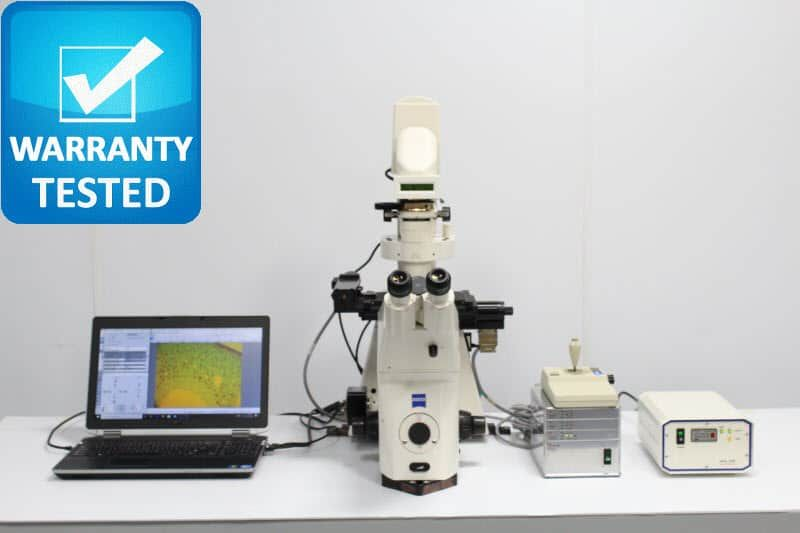Zeiss Axiovert 200M Fluorescence Motorized DIC Polarization Microscope unit 3