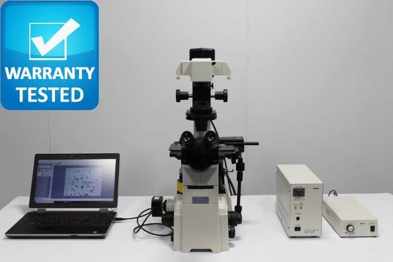 Nikon TE2000-S Inverted Fluorescence Phase Contrast Microscope