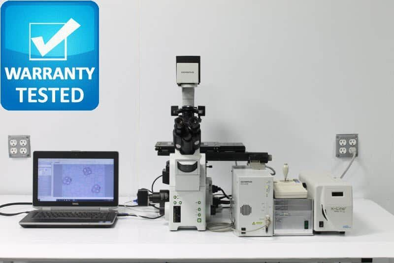Olympus IX81 Fluorescence Motorized Phase Contrast Microscope Unit4 - AV