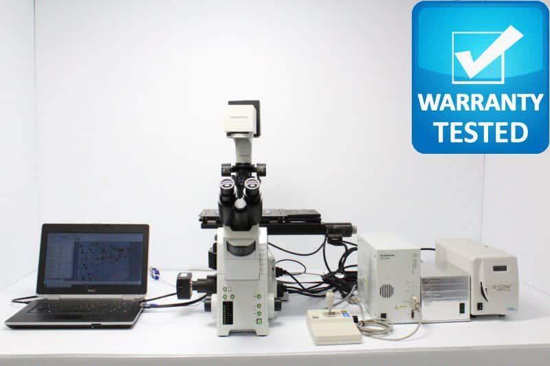 Olympus IX81 Fluorescence Motorized Phase Contrast Microscope Unit3