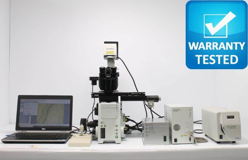Olympus IX81 Fluorescence Motorized DIC Polarization Microscope unit 9