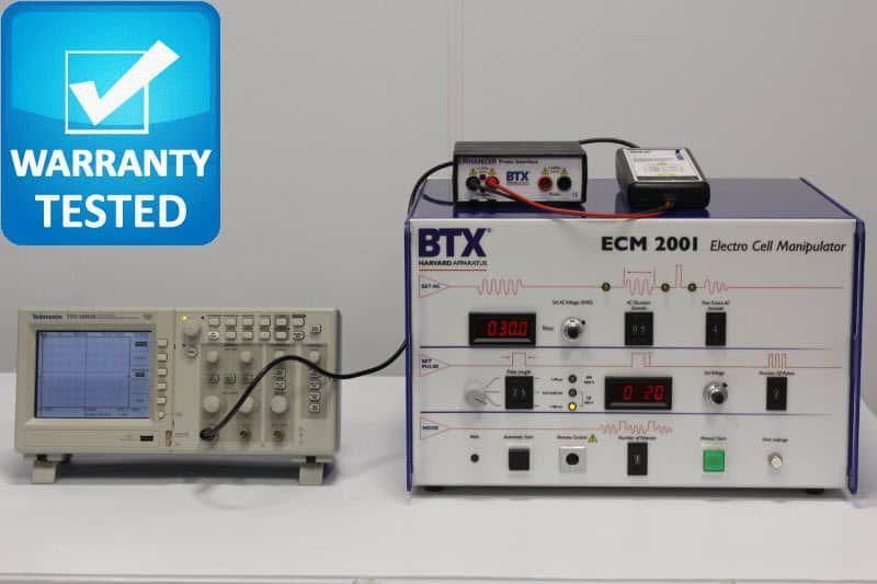 Harvard BTX ECM 2001 Electro Cell Manipulator Electroporator w/ Oscilloscope