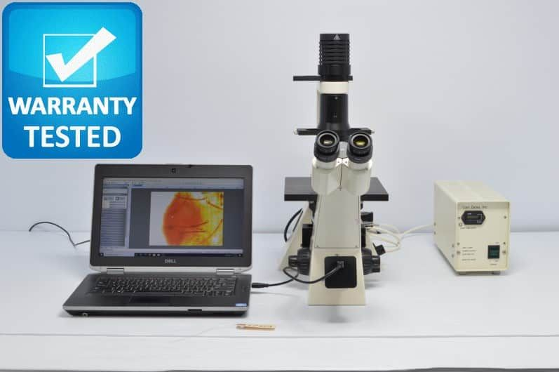 Zeiss Axiovert 40 MAT Inverted Fluorescence Phase Contrast Microscope