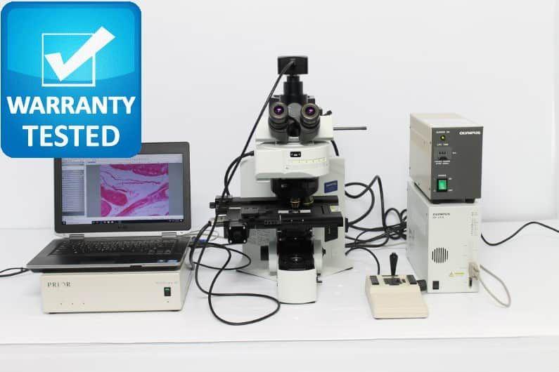 Olympus BX61 Fluorescence Motorized Microscope BX61TRF Unit7