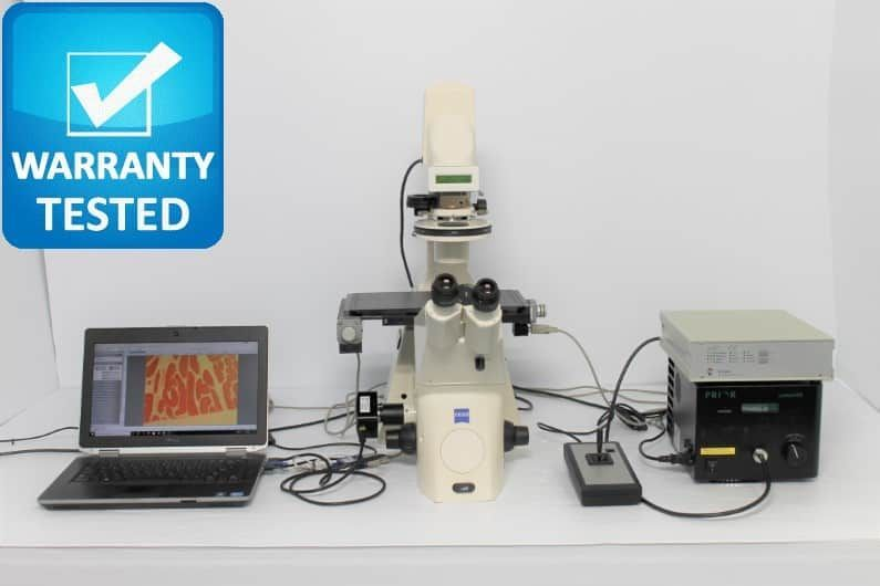 Zeiss Axiovert 200M Fluorescence Motorized Phase Contrast Microscope Unit8