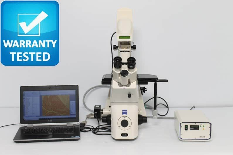 Zeiss Axiovert 200M Fluorescence Motorized Phase Contrast Microscope unit 9