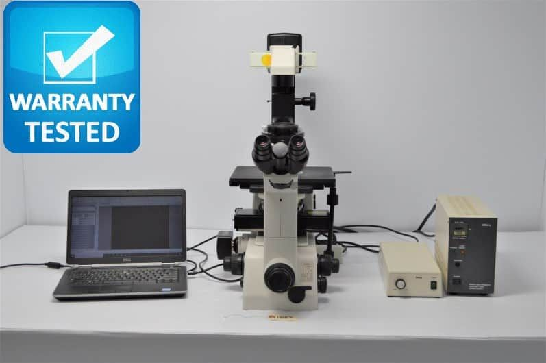 Nikon TE300 Inverted Fluorescence Phase Contrast Microscope Unit7