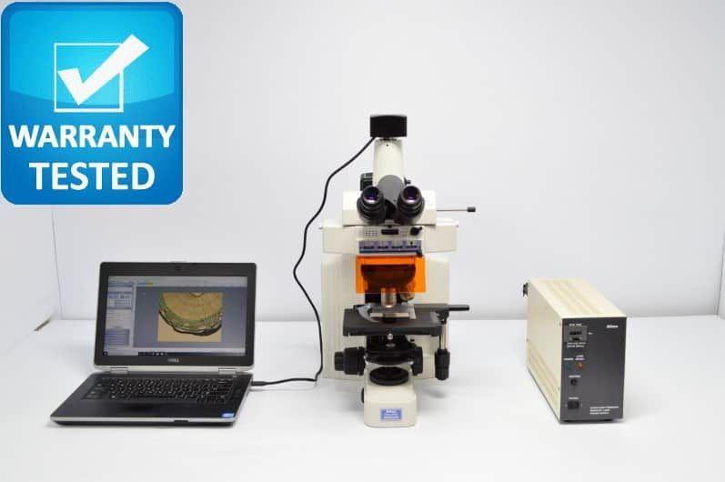 Nikon E600 Fluorescence Microscope E600W Pred Ni