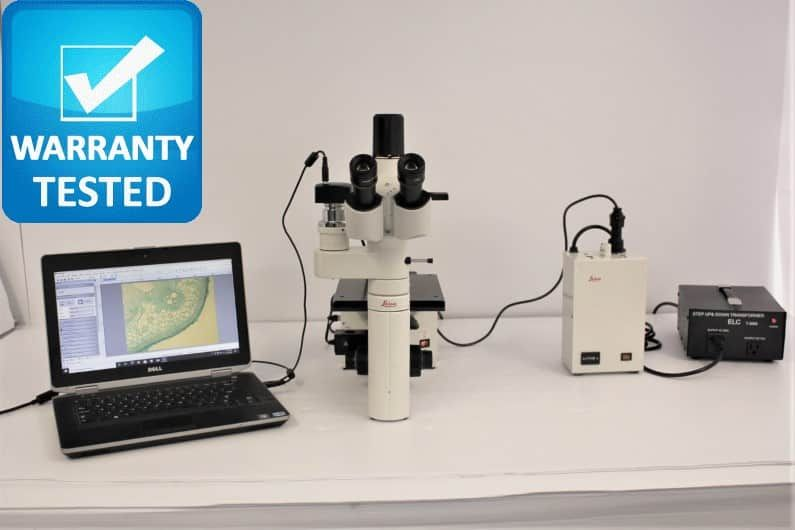 Leica DM IL Inverted Fluorescence Phase Contrast Microscope DMIL Pred LED - AV