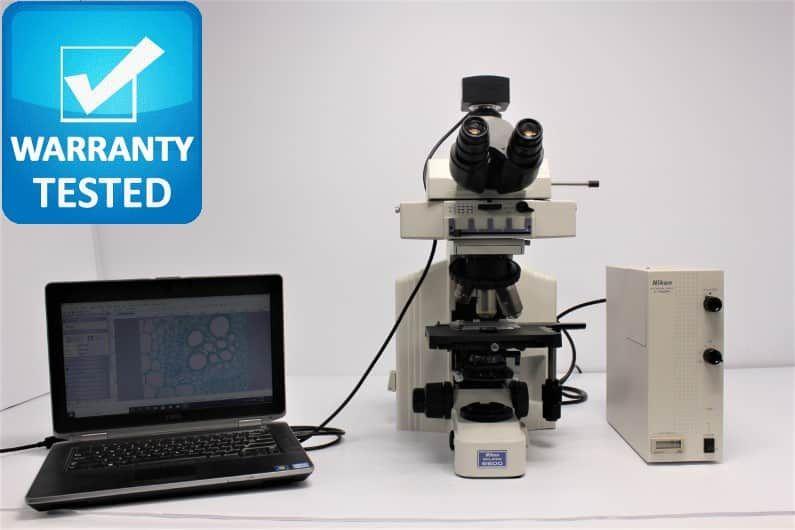 Nikon E600 Fluorescence Microscope Pred Ni - AV