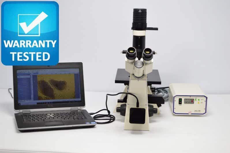 Zeiss Axiovert 40 CFL Inverted Fluorescence Phase Contrast Microscope Unit2 Pred Axio Vert.A1