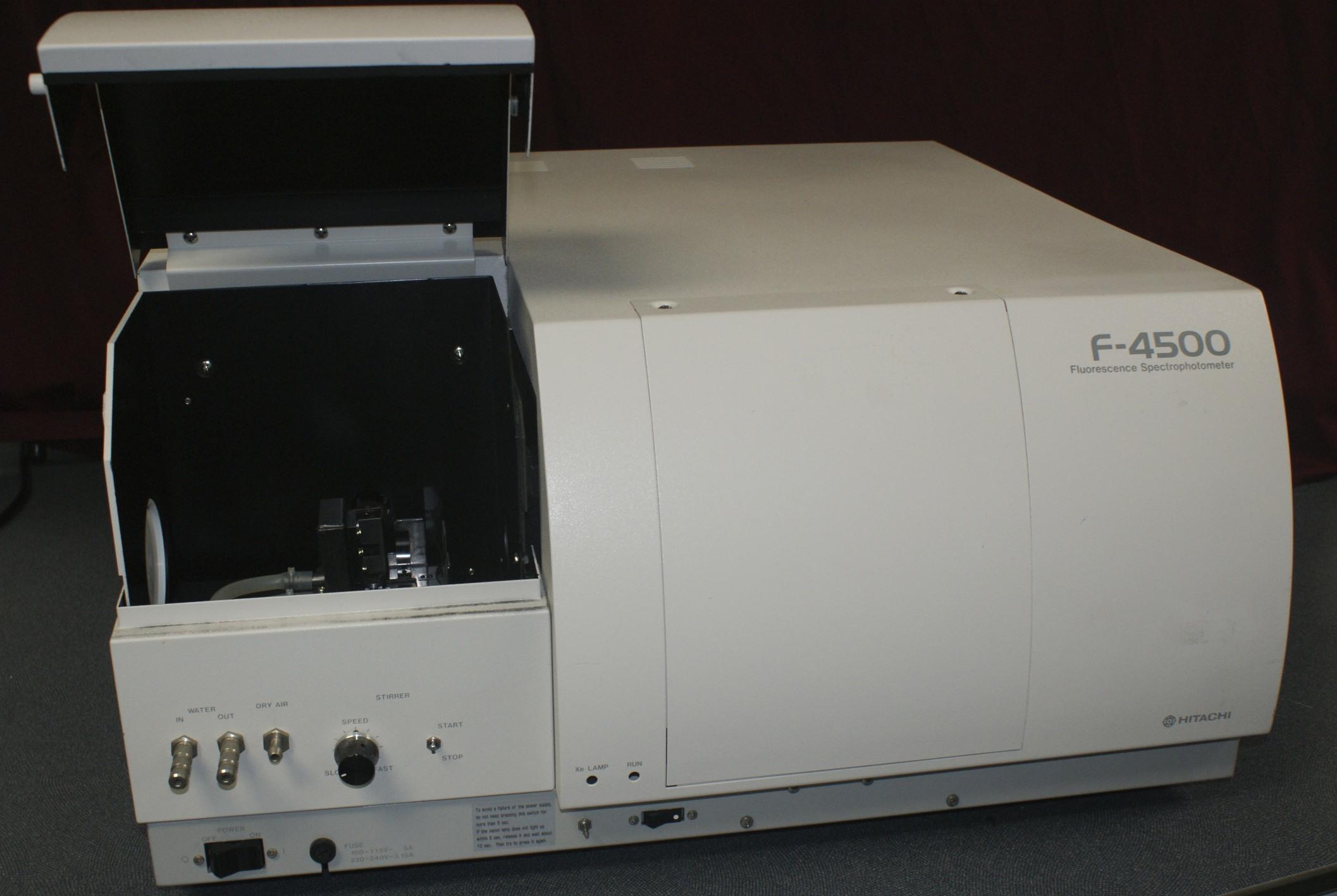 Hitachi F-4500 Fluorescence Spectrophotometer Hitachi F4500 Fluorescence Spectrometer with accessori