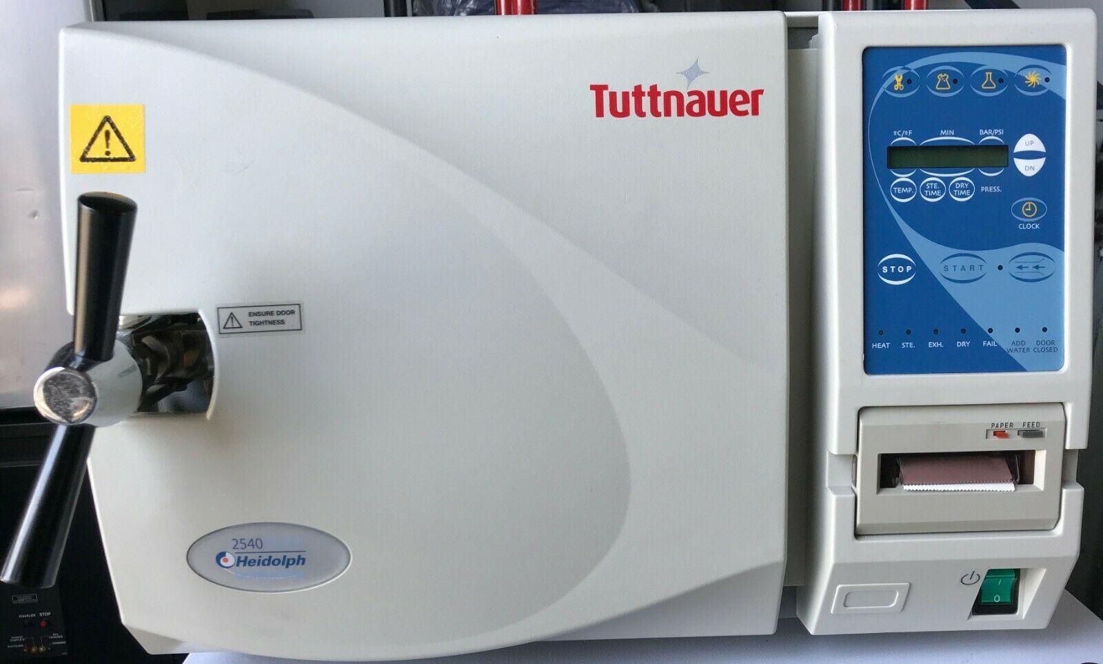 Tuttnauer 2540E Heidolph Autoclave Steam Sterilizer