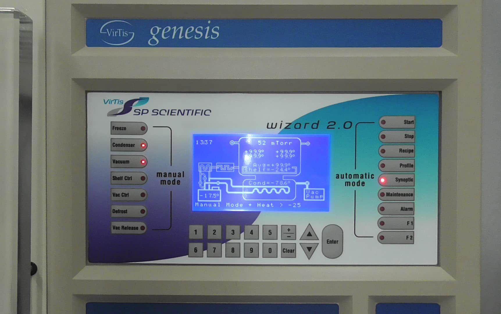 Virtis 25L Genesis SQ EL -85 Lyophilizer (Part # 446590)