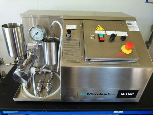 Microfluidics Model M110-P Bench Top Microfluidizer with Diamond Interaction Chamber
