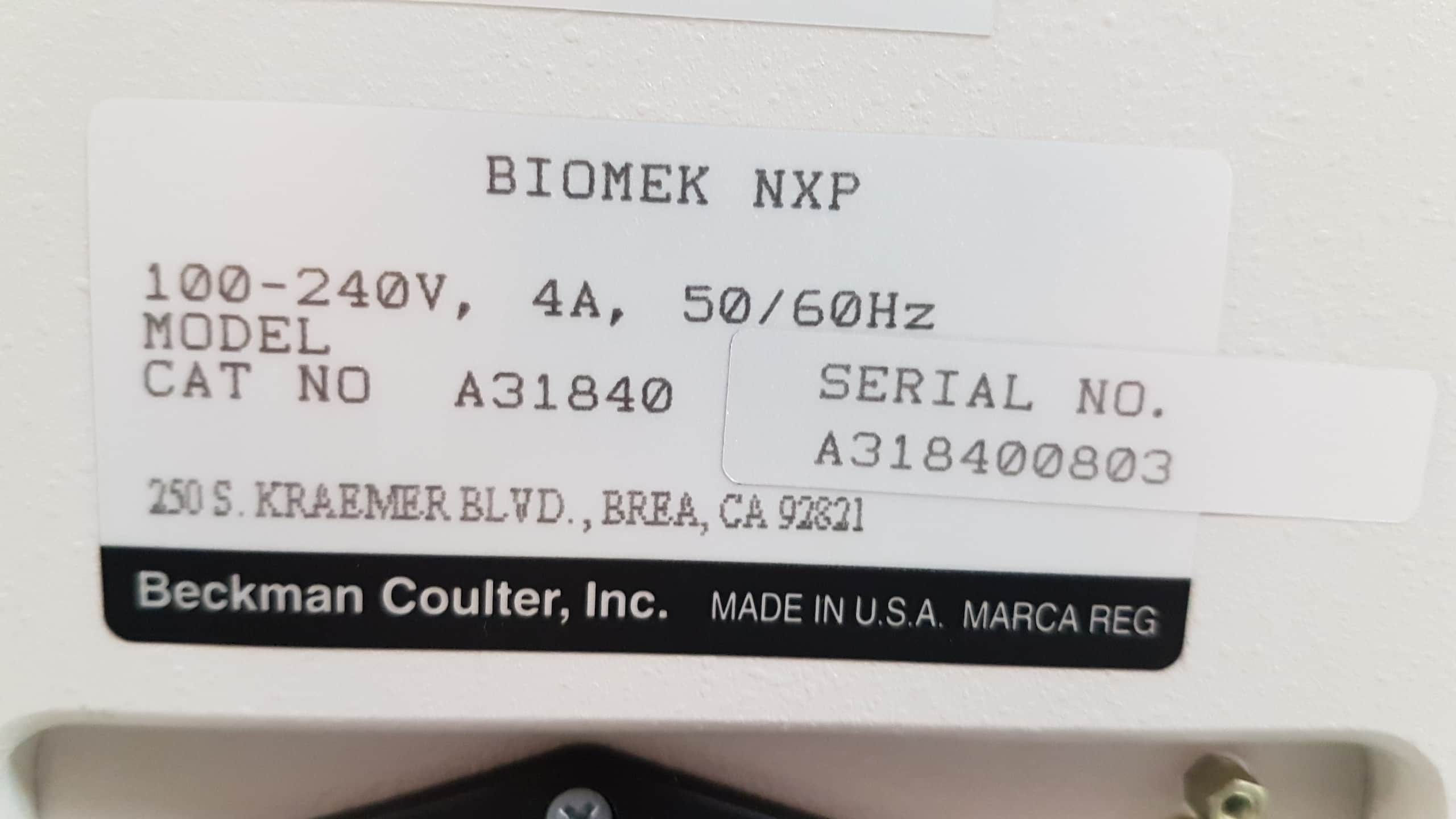 Beckman Coulter Biomek NXp with Span-8 and rotating gripper