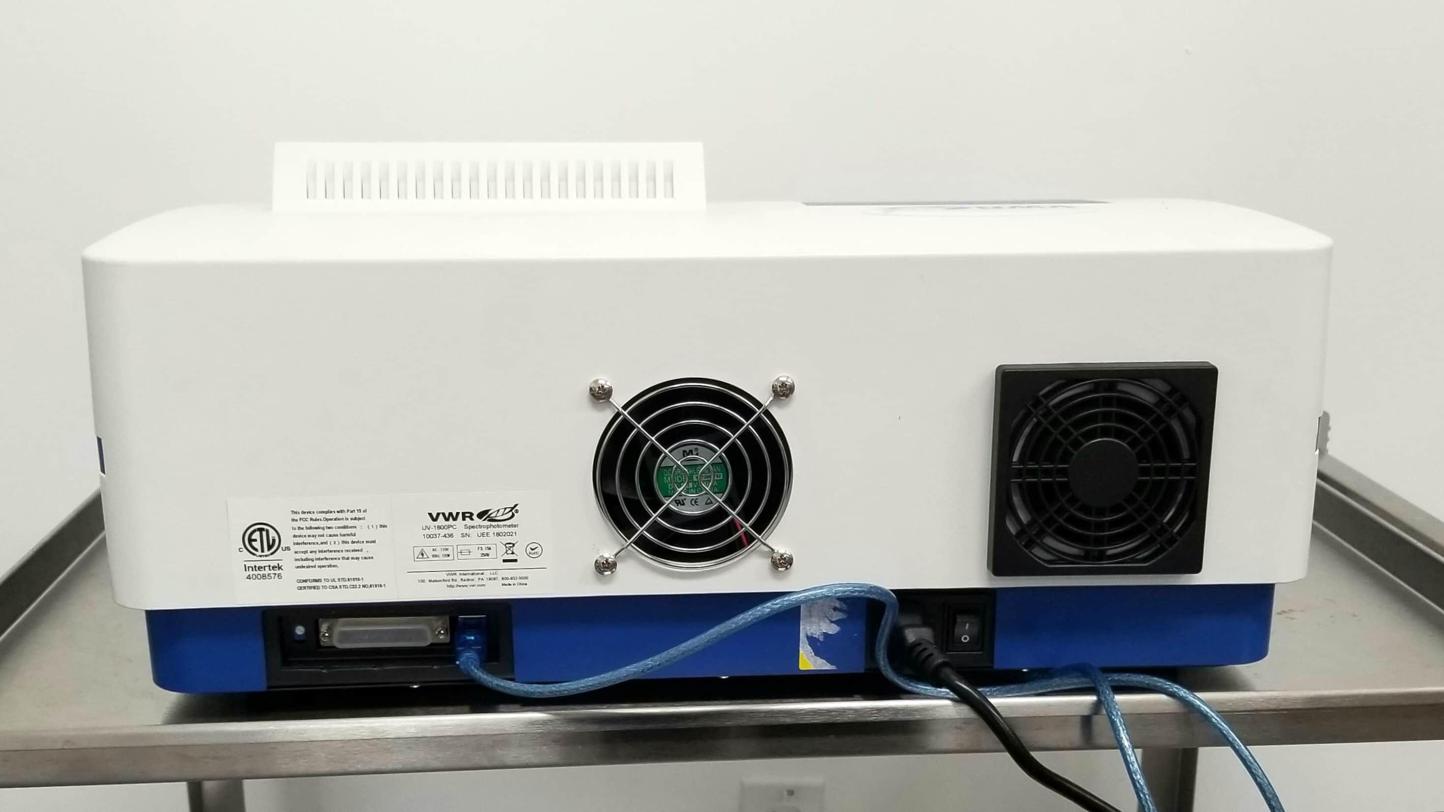 VWR UV-1600PC Spectrophotometer