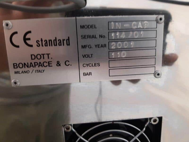 Dott Bonapace IN-CAP Benchtop Automatic Capsule Filler - REBUILT