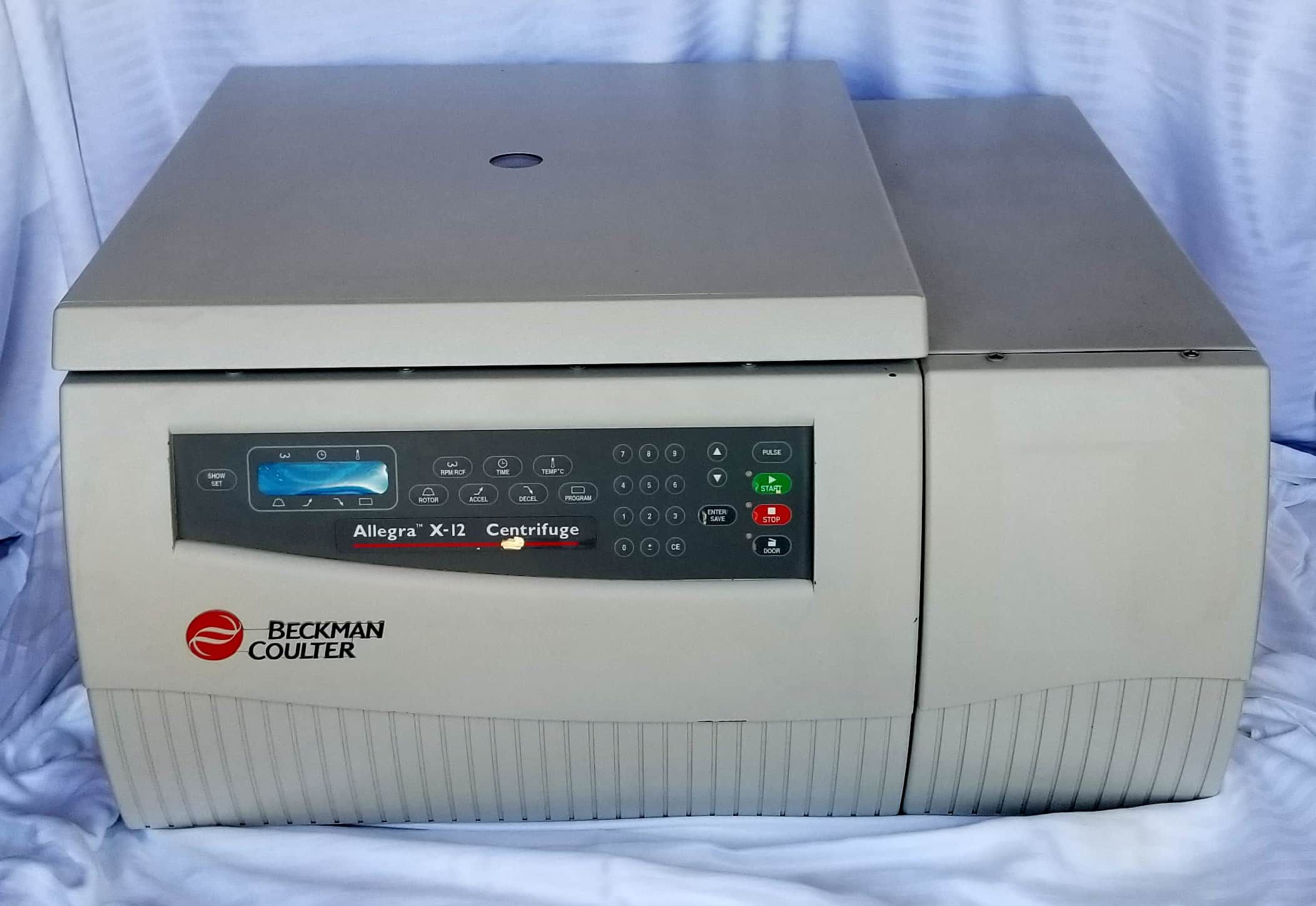 Beckman Coulter Allegra X-12 centrifuge with SX4750 rotor and buckets