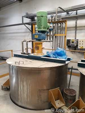 Stainless Steel 3800 Liter Tank with Top Agitator