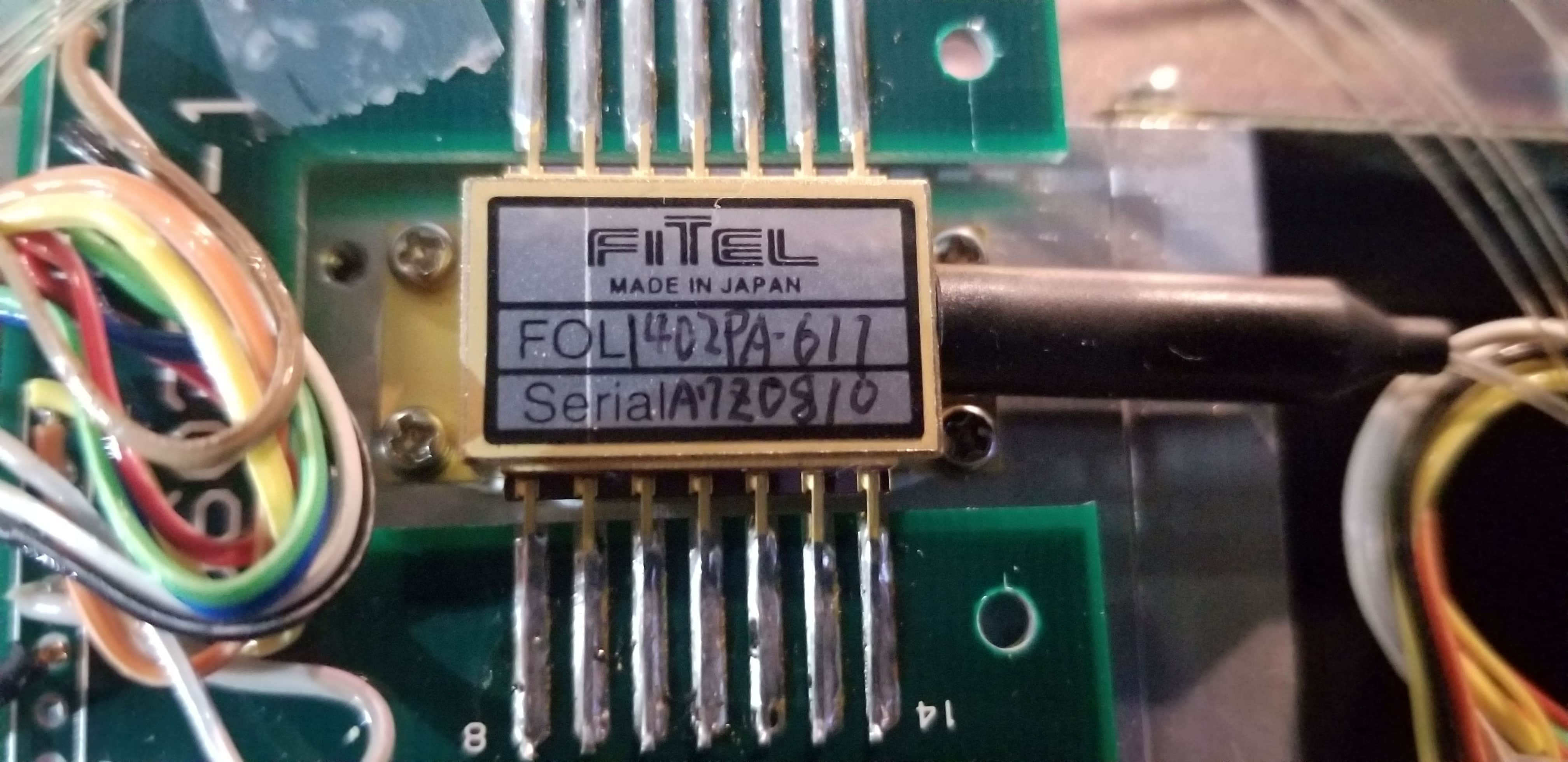 Fitel HPU : High-powered Pumping Unit : HPU1360 : 6-channel Photonic Amplifier 1480nm laser diodes