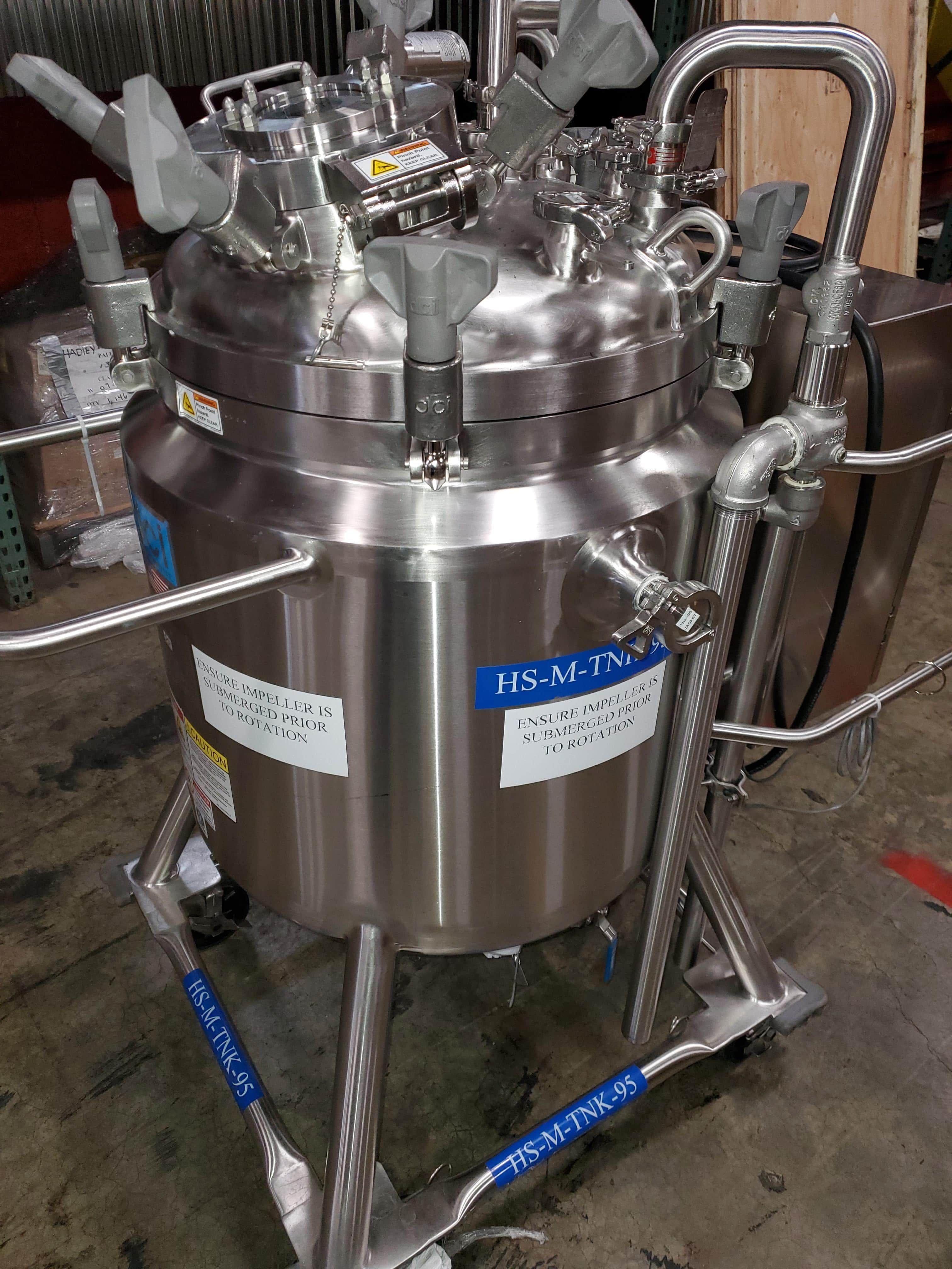 125 Liter DCI Tank Jacketed mixing tank Bottom mixer Year 2016
