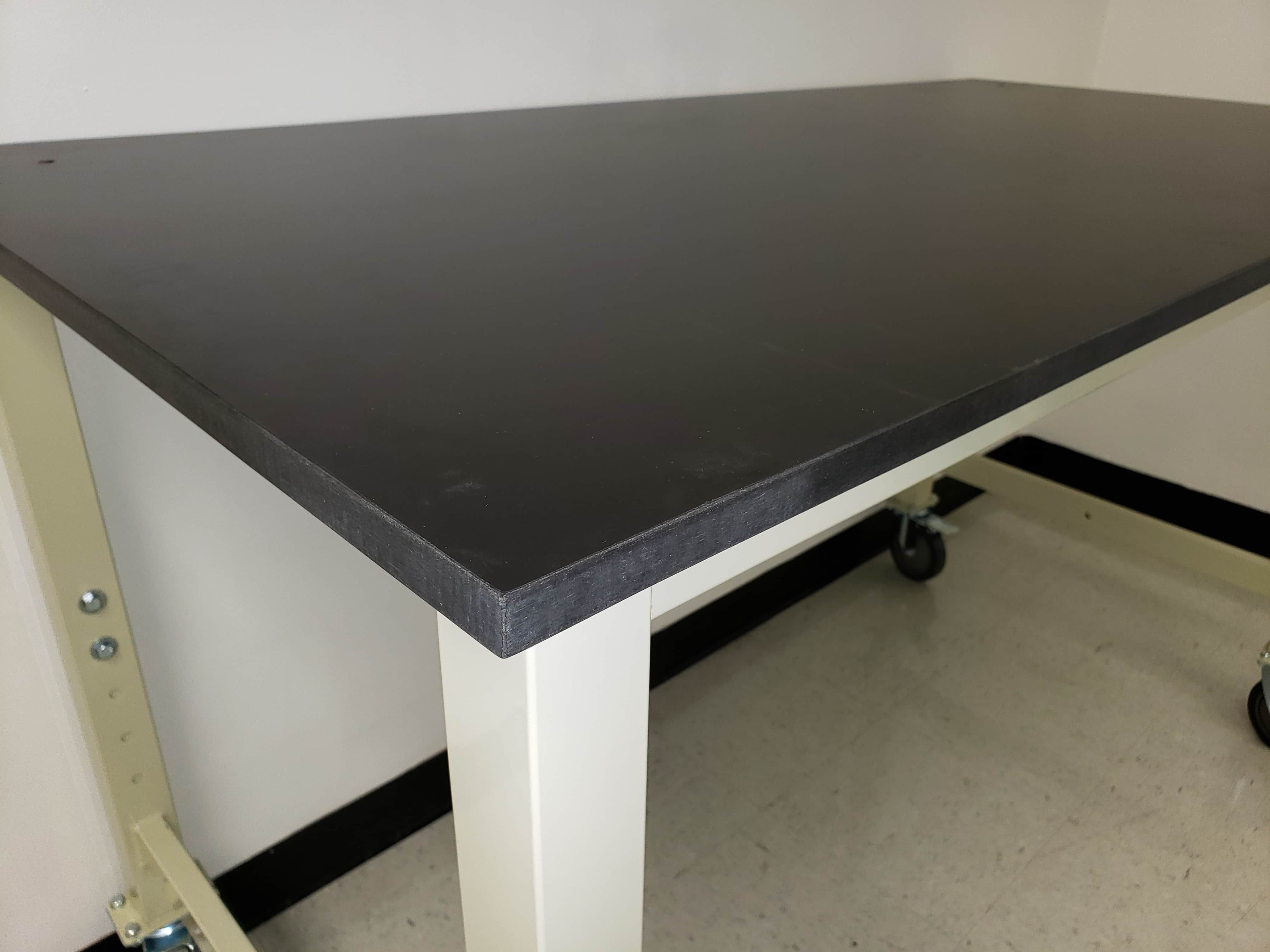 """5 foot Lab table (60"""" long x 30""""deep)- adjustable height (30""""-36"""") with phenolic resin countertop (NEW)"""