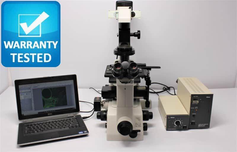 Nikon TE300 Inverted Fluorescence Phase Contrast Microscope Unit9 Pred Ti2