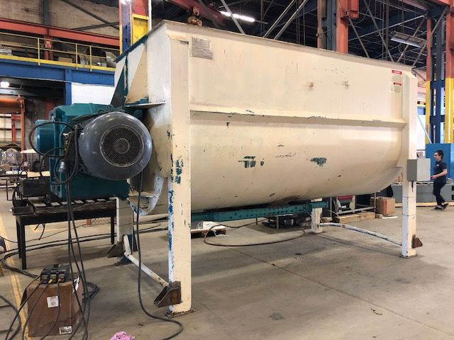 """Ribbon Mixers """"Used 385 cu.ft. American Process Systems Model U385-684 double ribbon blender. Serial"""