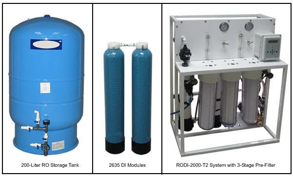 AQUA SOLUTIONS Model:  RODI-2000-01T2   -   High Flow Type II DI System with Built-in RO Pre-Treatme