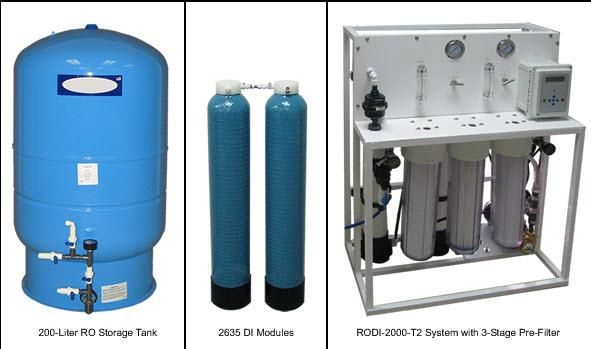 AQUA SOLUTIONS Model:  RODI-2000-01T2 - High Flow Type II DI System with Built-in RO Pre-Treatment