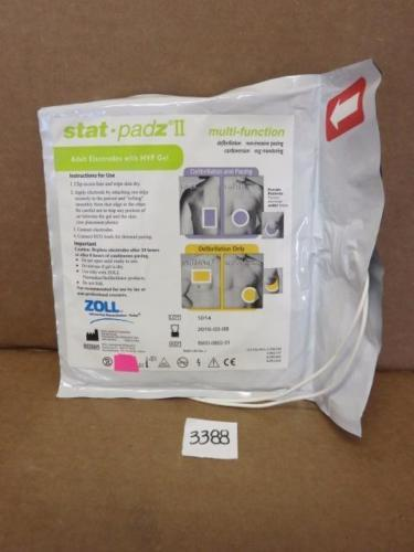 Zoll Stat-Padz II Adult Defibrillator Electrodes P/N 8900-0802-01 *New-Expired*