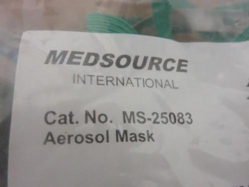 Pediatric Aerosol Masks Lot of (24) Medsource, Allegiance Etc. *New*